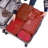 Cocoly 6 sets travel Organizers Packing Cubes Luggage Organizers Compression Pouches