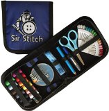 Sir Stitch Professional Sewing Kit for Travel, Home, Vehicles & Emergencies, Compact Emergency Mending Set for Beginners & Adults, Girls & Boys, Grandma, Kids & Campers, Mom & Even Dad