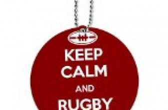 Keep Calm And Rugby On Sports Round Luggage ID Tag Card Suitcase Carry-On
