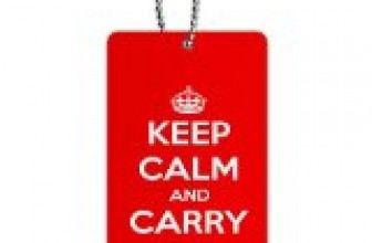 Keep Calm and Carry On Red ID Tag Luggage Card Suitcase Carry-On