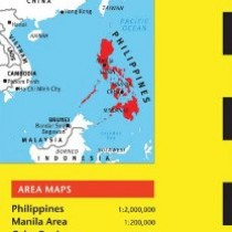 Philippines Travel Map Fourth Edition (Periplus Travel Maps)