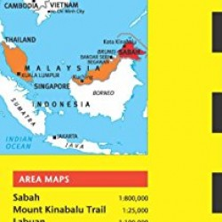 Sabah & Kota Kinabalu Travel Map Fifth Edition (Periplus Travel Maps)